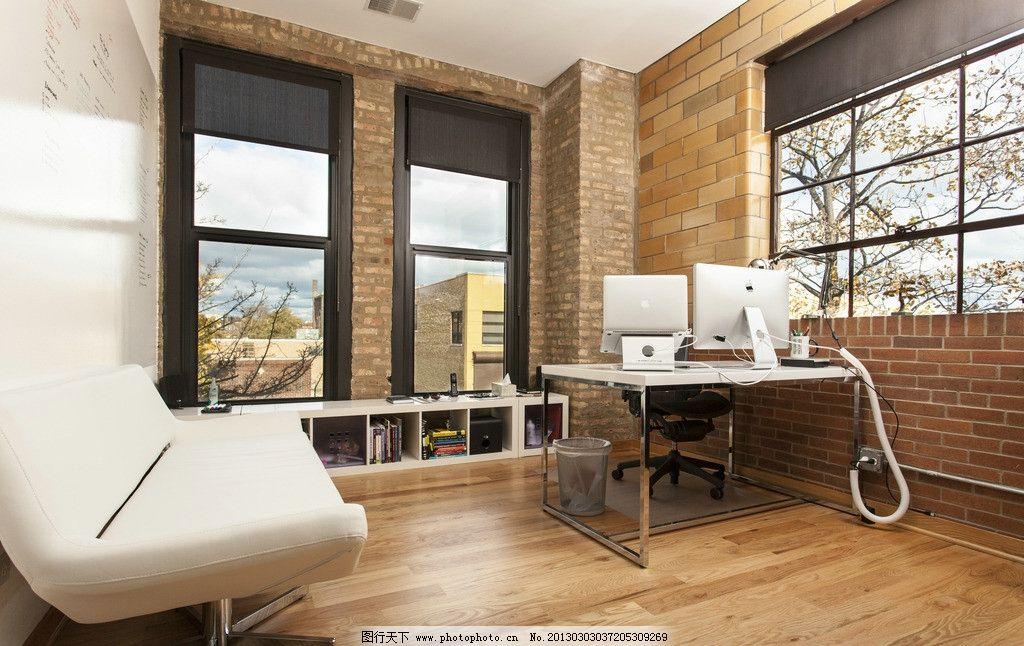 国外办公室 室内建筑 室内装潢 室内设计 苹果 沙发 木地板 学习办公图片