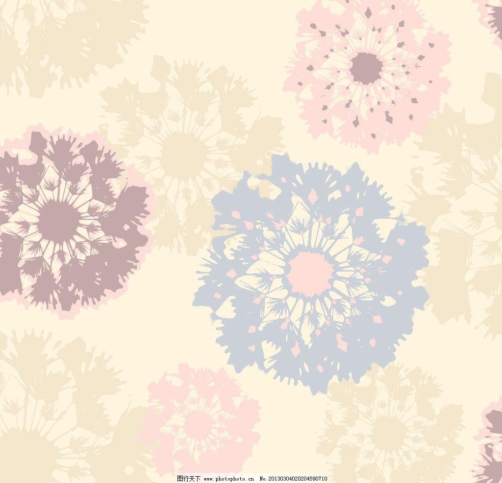 花卉底纹素材图片