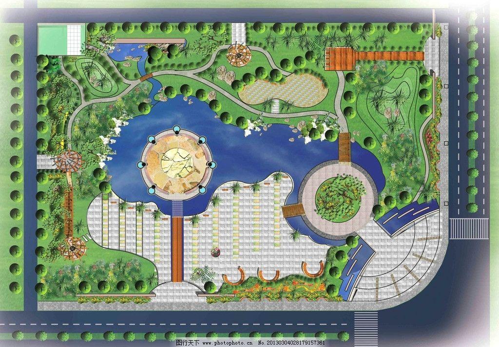 小游园景观设计平面图-江苏路转盘小游园图片