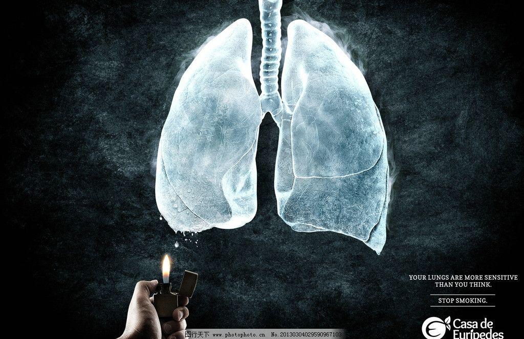 公益广告 戒烟 肺部 冰 广告设计 设计 100dpi jpg