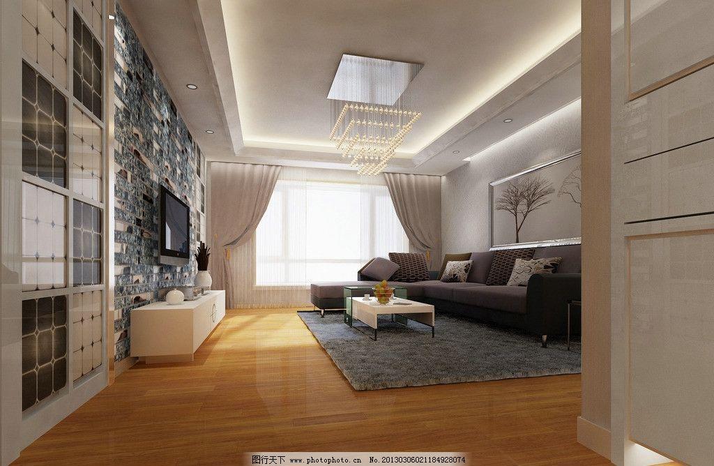 客厅效果图 微晶石背景墙 电视背景墙 马赛克背景墙 壁布背景墙 家装