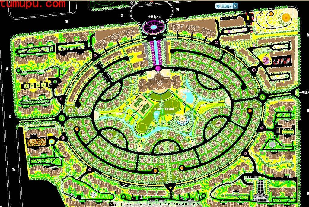 蘇州佳盛花園景觀綠化設計總平面 小區規劃 別墅區 樓盤 房地產 花園
