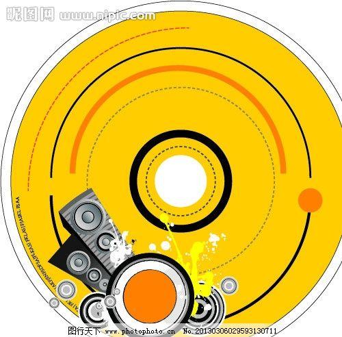 音乐盘 车载音乐 光盘包装 dj盘面 cd盘面 包装设计 广告设计 矢量 ai