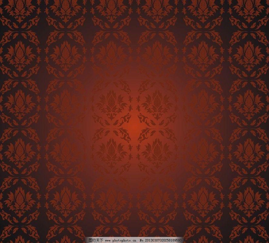 矢量 红色底纹 欧式底纹 欧式 背景 花纹 背景素材 喜庆 红色 深红色