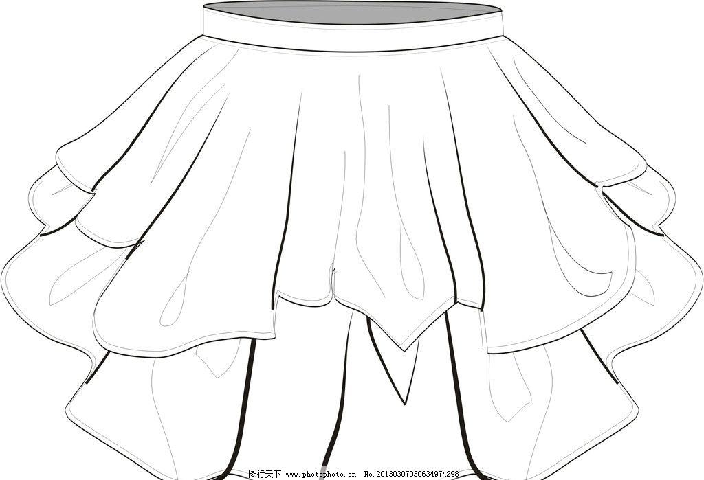 女童短裙 女童 夏装 短裙 泡泡裙 服装 服装设计 广告设计 矢量 cdr