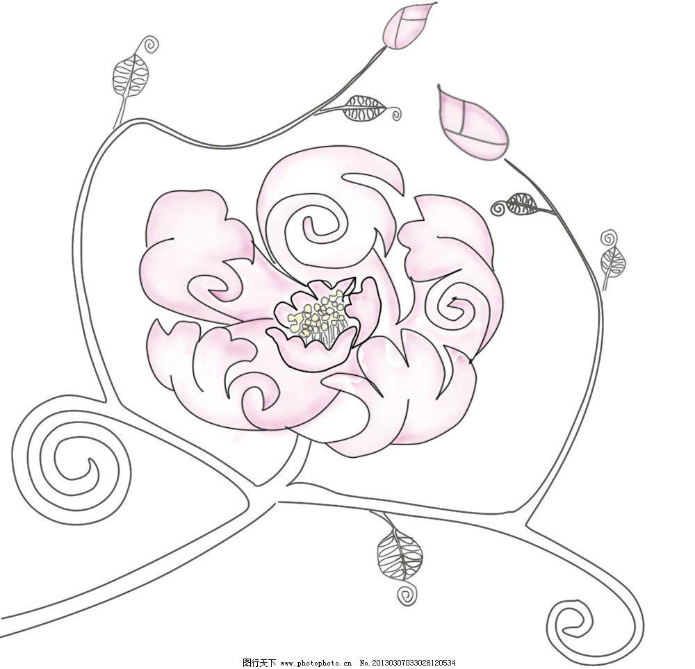 花卉 手绘花卉 花朵 花纹 psd分层素材 源文件 200dpi psd