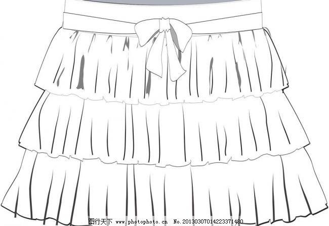 短裙子图片手绘图片