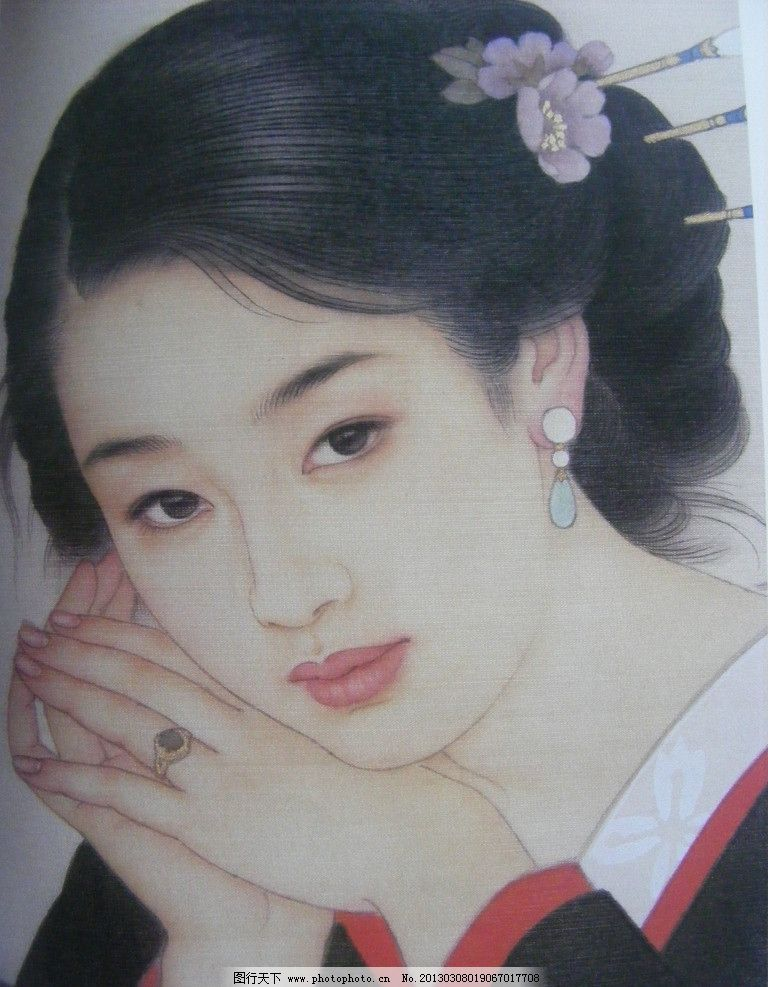 工笔古装美女图片