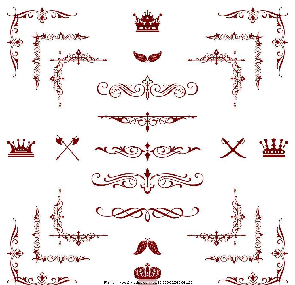 潮流 梦幻 标签 贴纸 丝带 麦穗 花纹 豪华 华丽 纹样 纹理 古典花纹