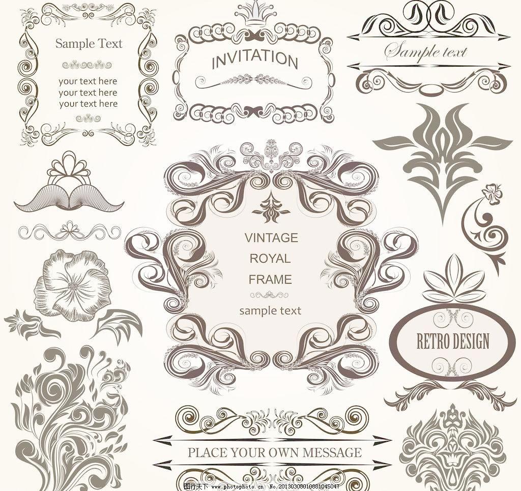 欧式花纹 花纹边框图片_其他_装饰素材_图行天下图库