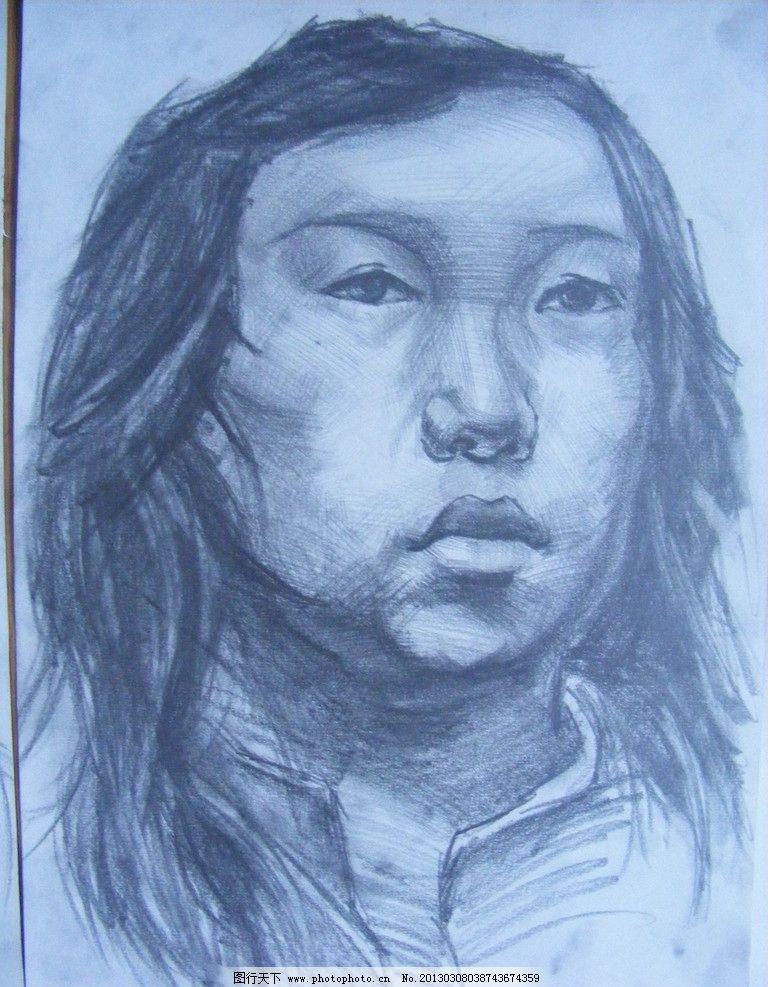 素描人物头像 绘画 写生 艺术 艺术创作 摄影图片 美术绘画图片
