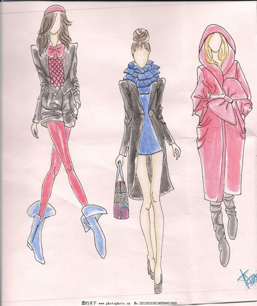 服装设计图 女式服装 休闲服装设计 服装设计图案 绘画书法 文化艺术