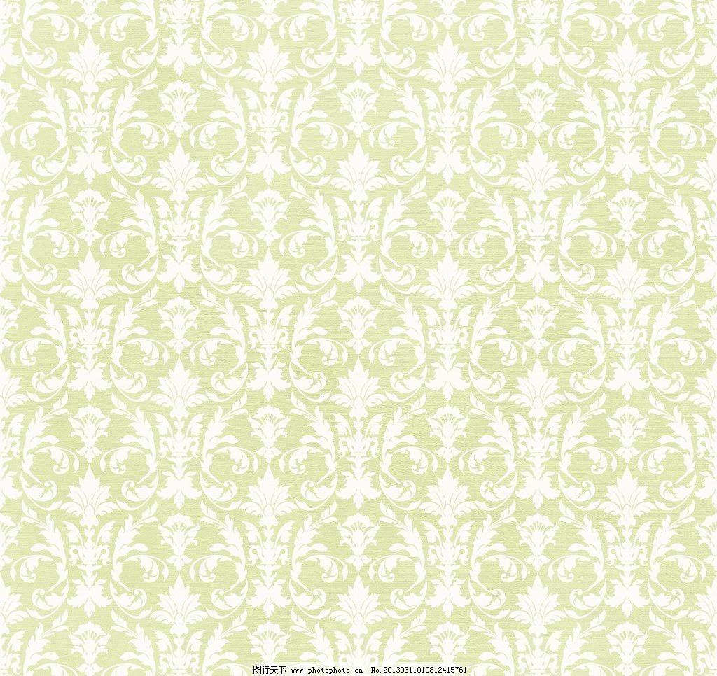 绿色华丽欧式花纹图片