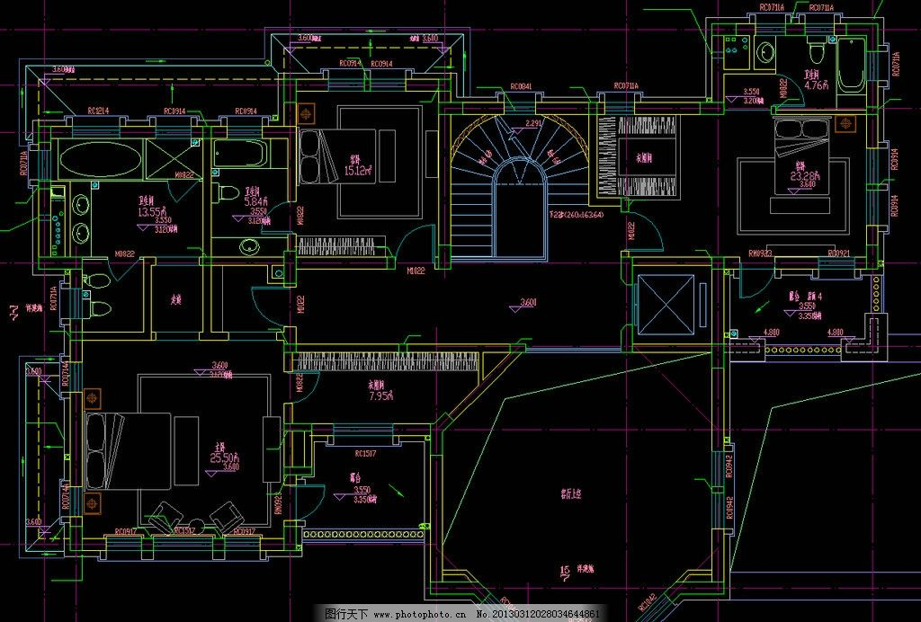 别墅石材装饰 平面图片_建筑设计_环境设计_图行天下