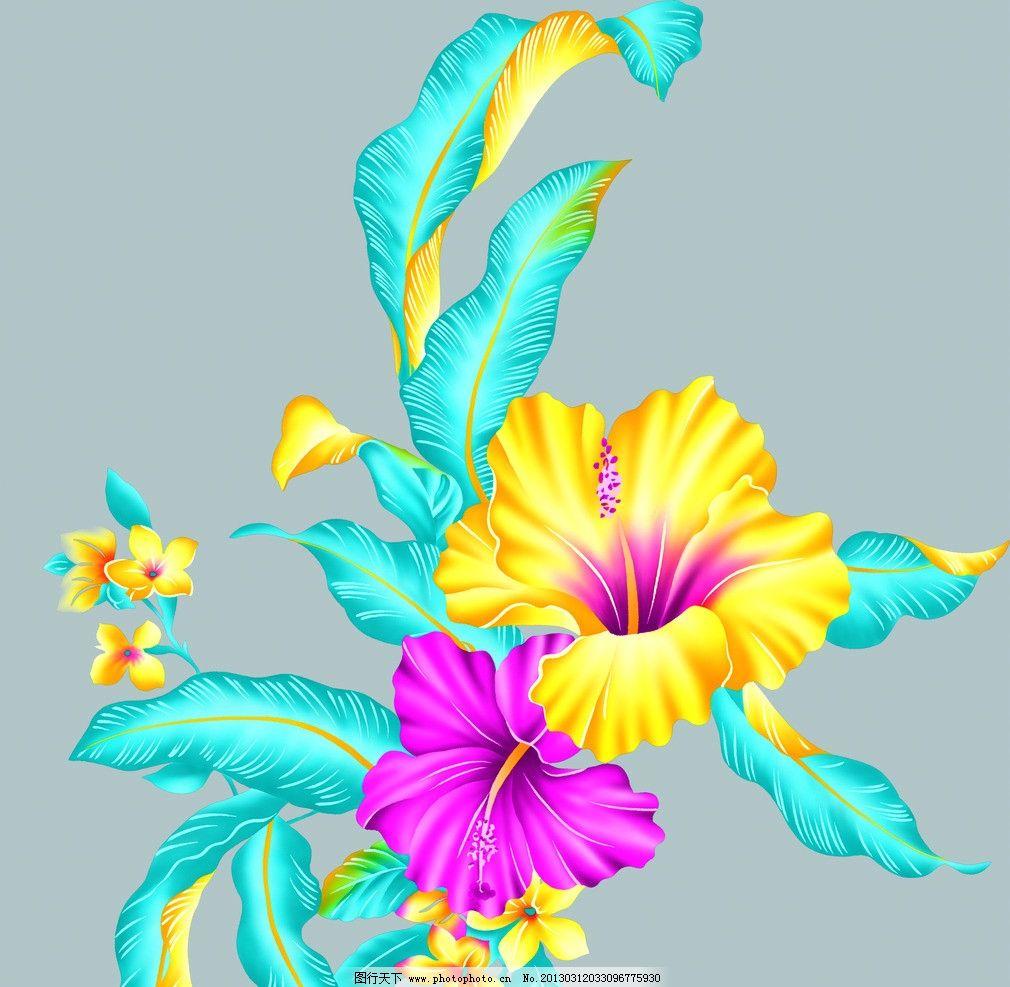 漂亮花朵 漂亮的花 手绘花朵 包装设计 psd分层素材 源文件 300dpi