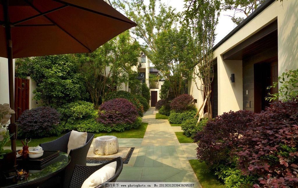 中式别墅小区庭院 中式别墅建筑 中式别墅 中式别墅小区 中式房子图片