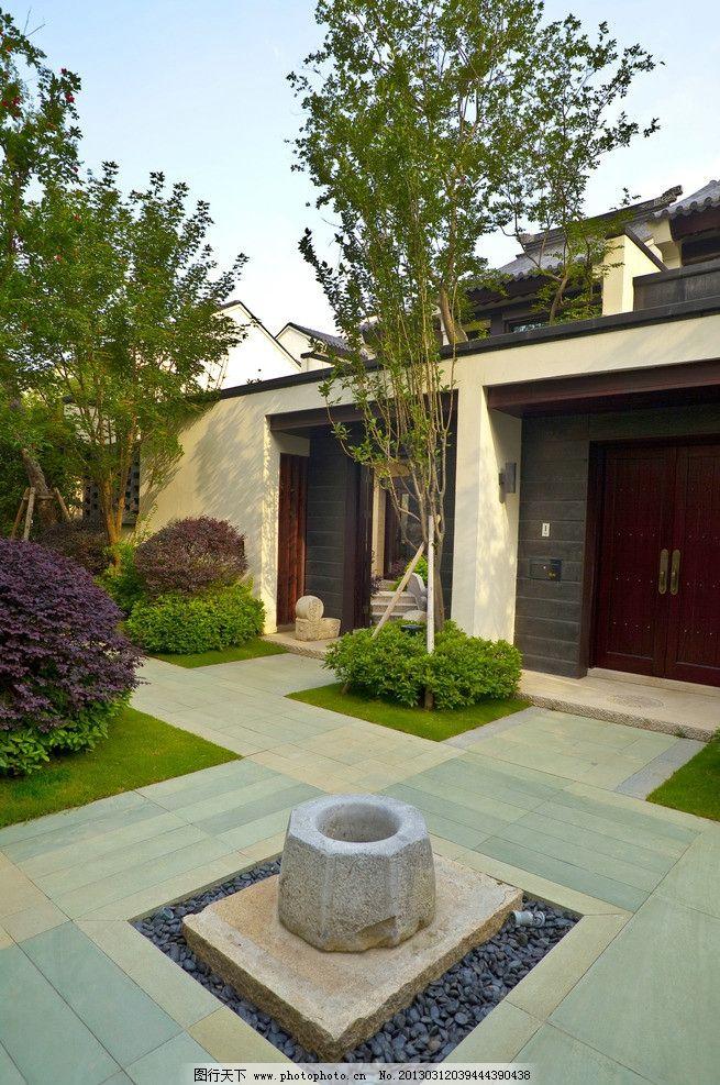 中式别墅小区庭院图片