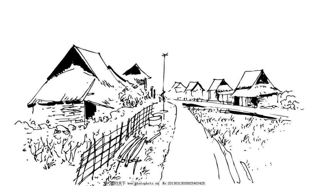 建筑 房子 绘画书法