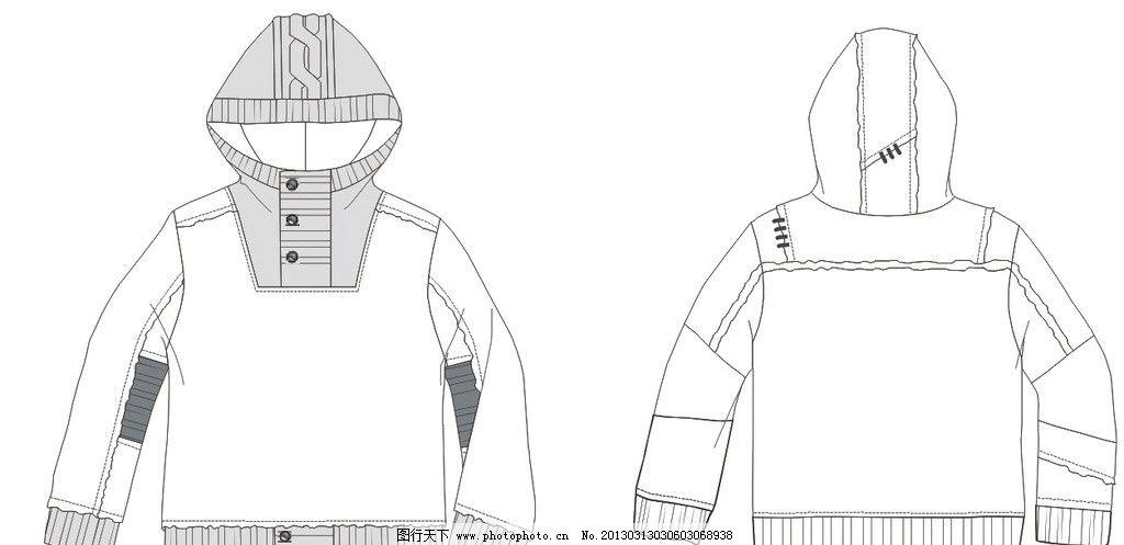 服装设计 卫衣设计 卫衣款式 卫衣矢量素材 广告设计 矢量 cdr