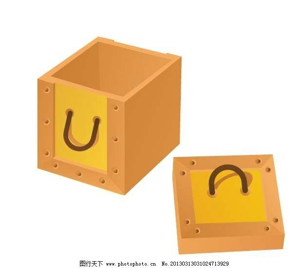 手绘ai素材 手绘插画 矢量素材 矢量 卡通 ai 素材 插画 盒子 箱子 ai