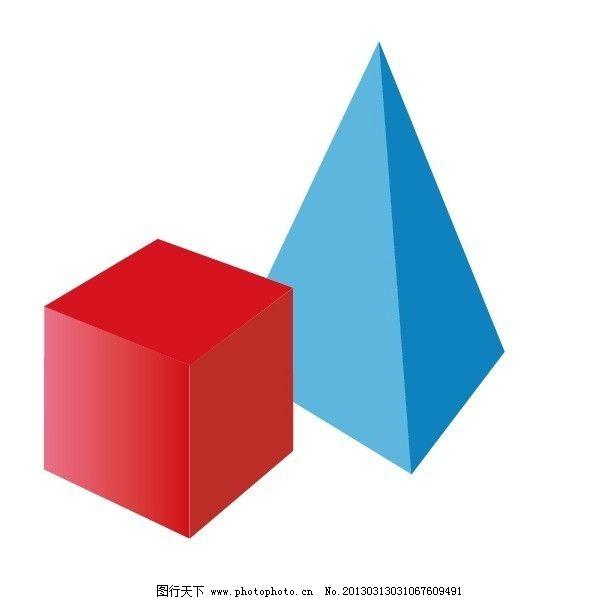 手绘ai素材 手绘插画 矢量素材 卡通 几何体 素描几何体 其他设计