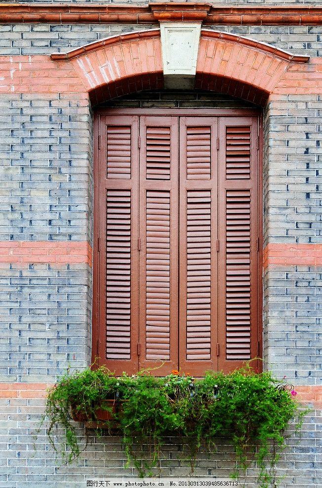 窗户木框 欧式别墅