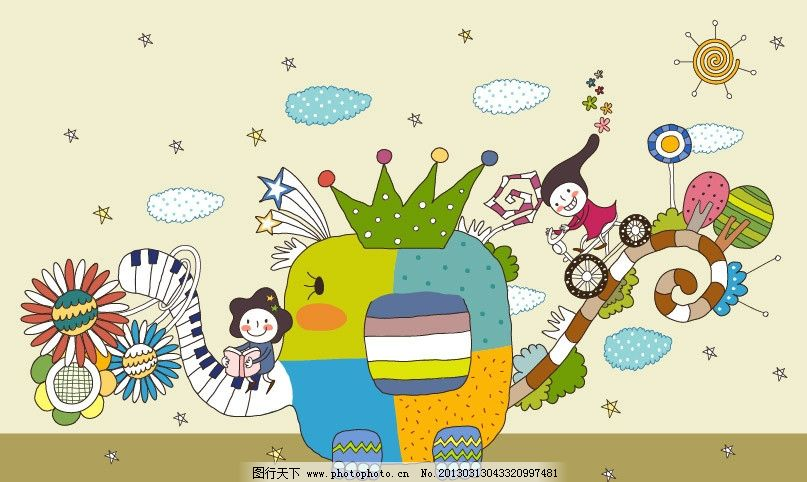 动物乐园 儿童 大象 卡通大象 黑白键 快乐儿童 骑自行车 儿童乐园 梦境乐园 游乐园 卡通乐园 儿童绘画 卡通插画 卡通人物 卡通形象 铅笔画 梦想天空 铅笔彩色画 幼儿绘画 儿童世界 卡通设计 广告设计 矢量 AI
