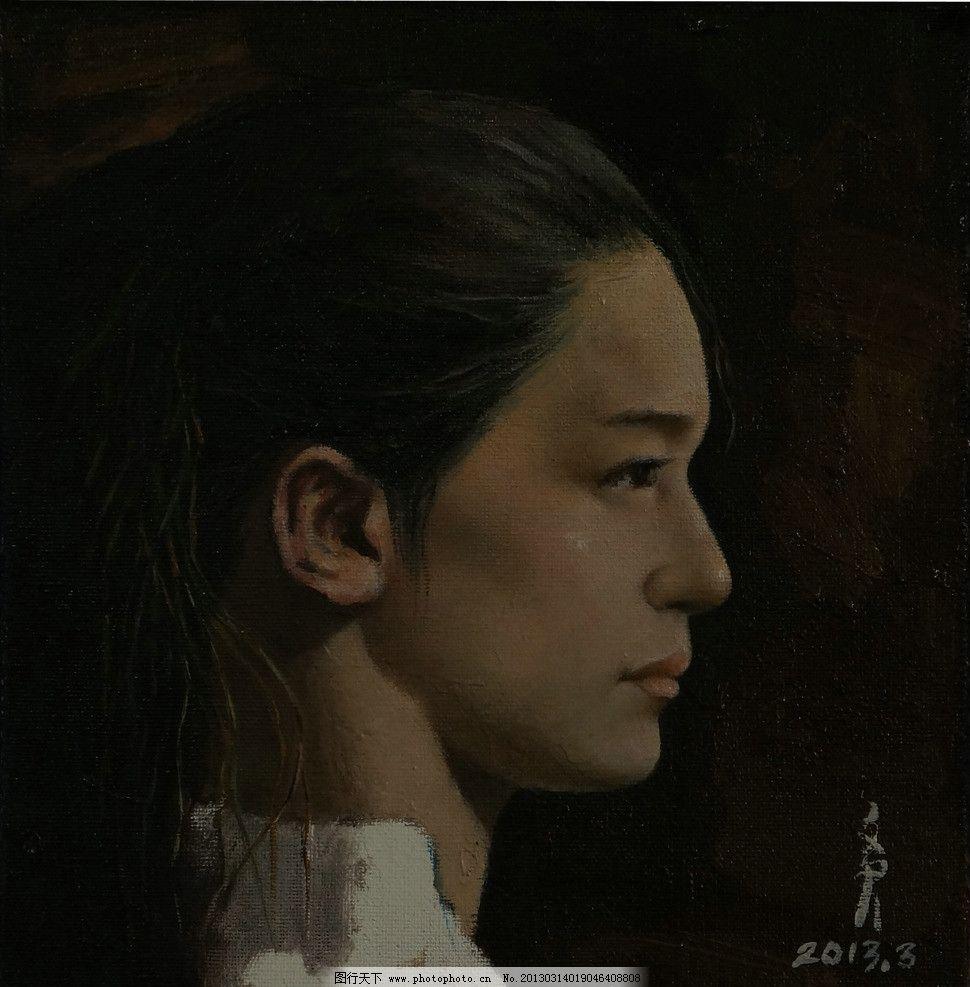 人物油画 著名肖像人物油画 油画 女性油画 美女油画 女人侧面头像