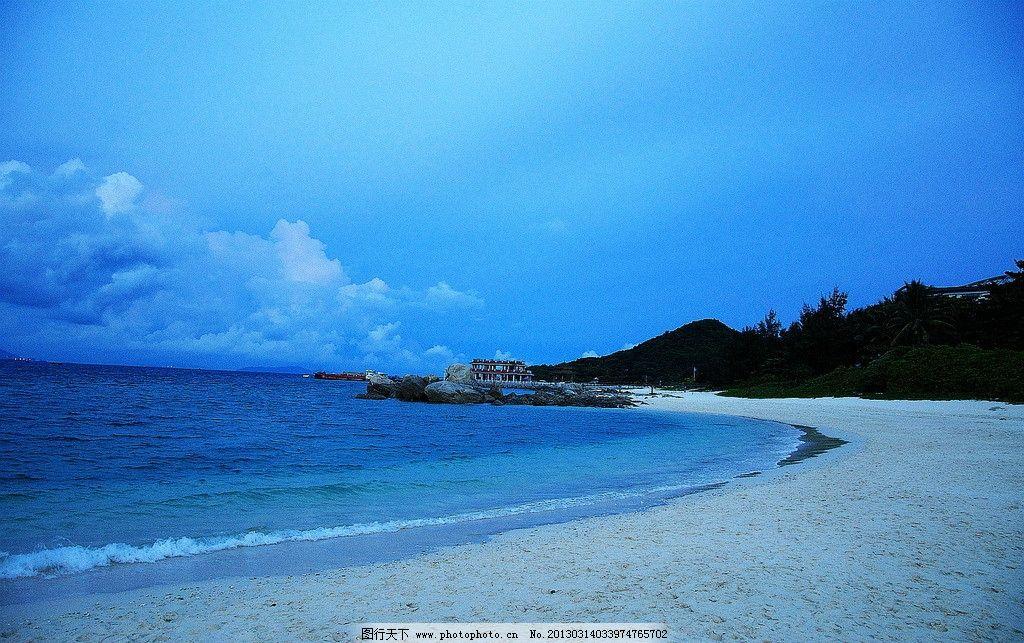海南蜈支洲岛白沙滩 蓝天 白云 海岛 海水 国内旅游 摄影