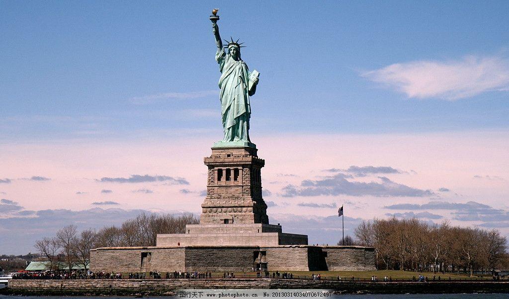 纽约 汽车 自由 华盛顿 美国/自由女神像图片