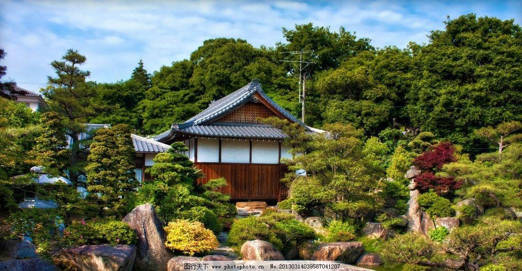 日本花园木屋图片