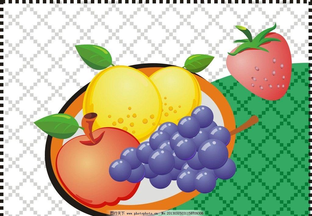 绘制水果 绘制 水果 漫画 餐饮美食 生活百科 矢量 cdr