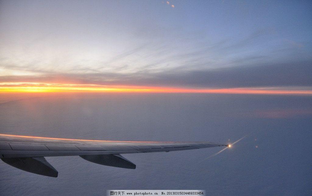 航拍 飞机 日落 云海 山水风景 自然景观 摄影 300dpi jpg