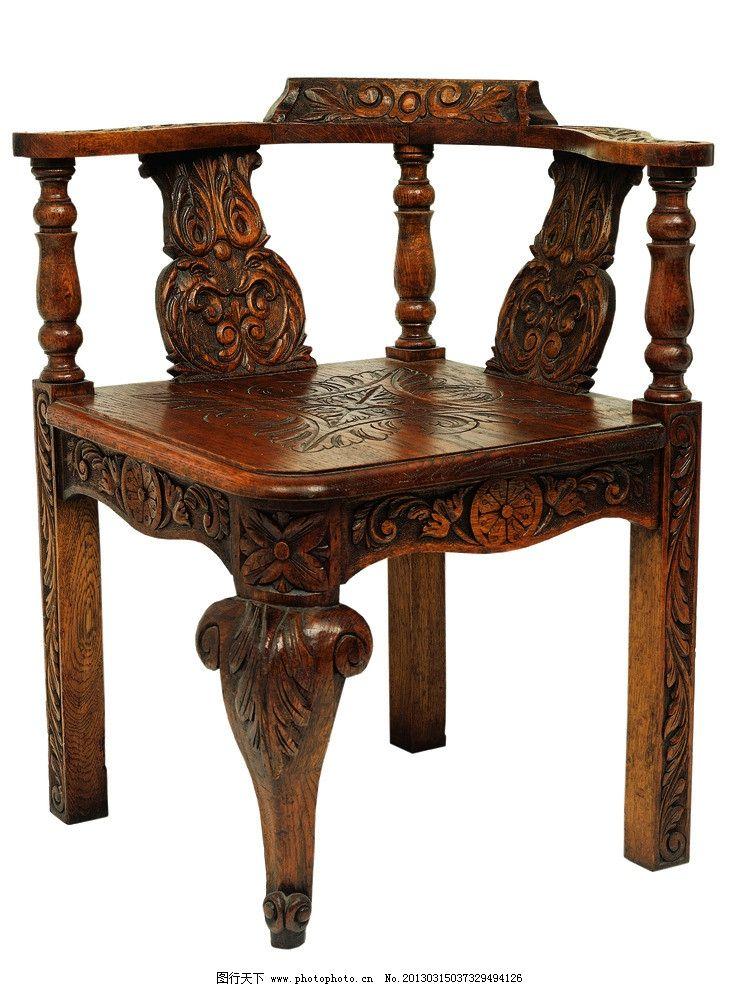古典实木椅子图片