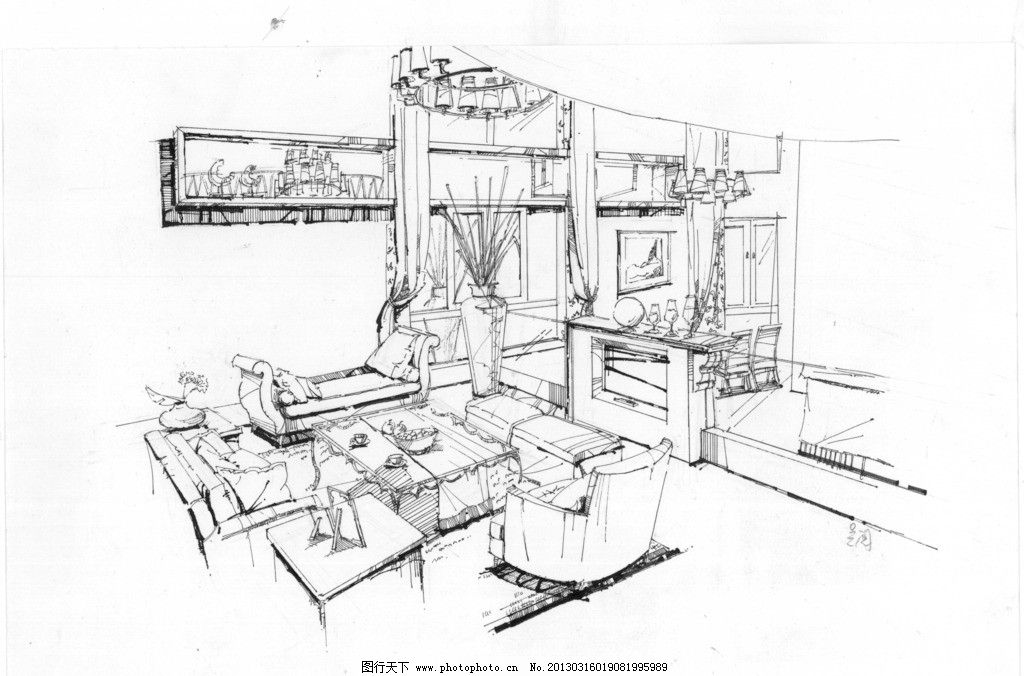 设计分享 简单室内设计手绘稿 > 室内设计手绘效果图图片专题  收集的