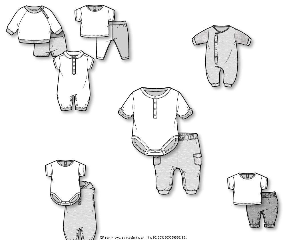 服装款式图    14年服装款式图 t恤 短t恤 服装t恤 衣服 裤子 童装 女