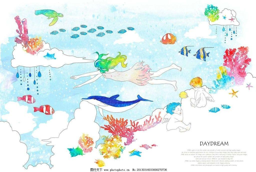 幼儿可爱海豚图画