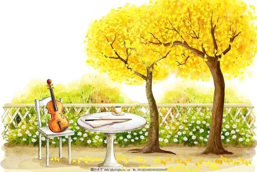 梦境小提琴图片
