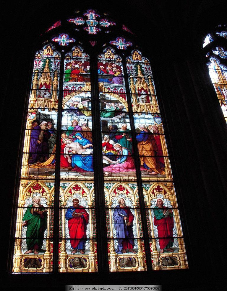 科隆教堂的彩色玻璃 德国 耶稣 欧洲 国外旅游 摄影图片