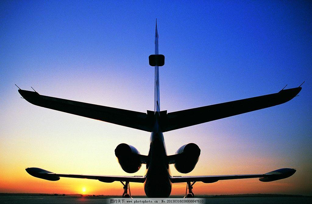 飞机 客机 民航 天空 起飞 飞翔 云彩 夕阳 晚霞 交通与旅游 交通工具