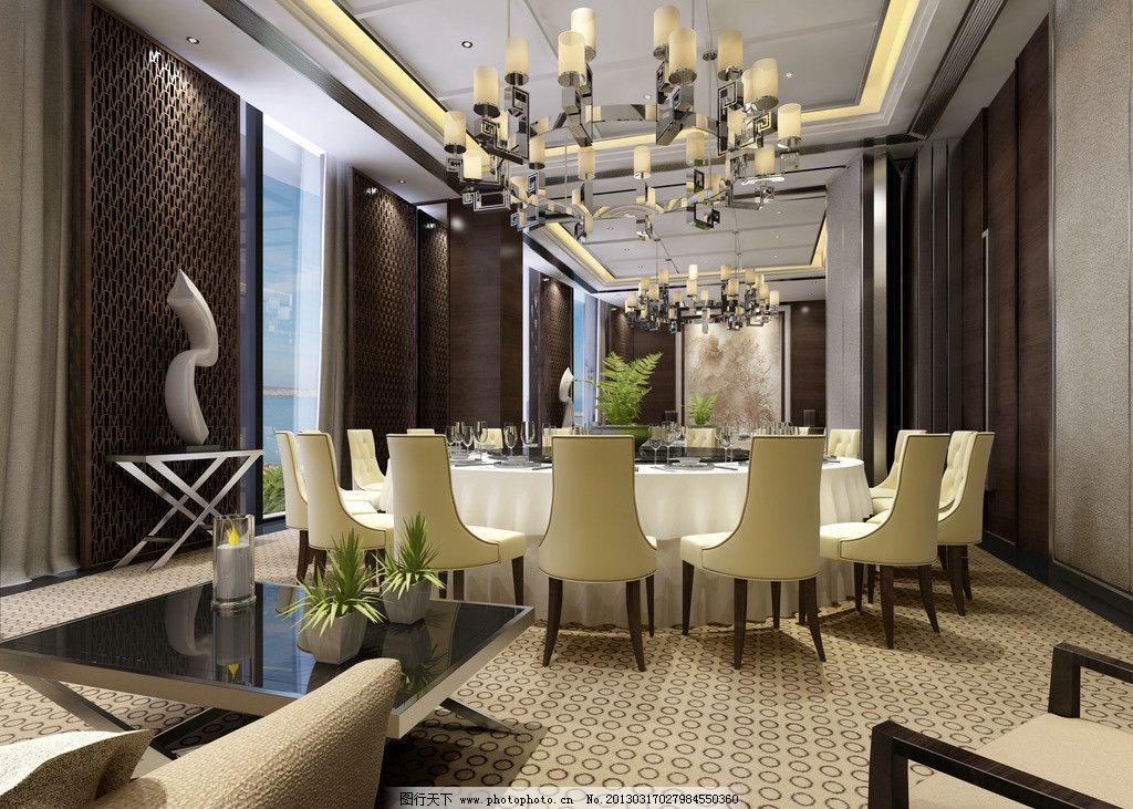 餐厅包厢 酒店包厢        vip单间 酒店效果图 室内设计 环境设计
