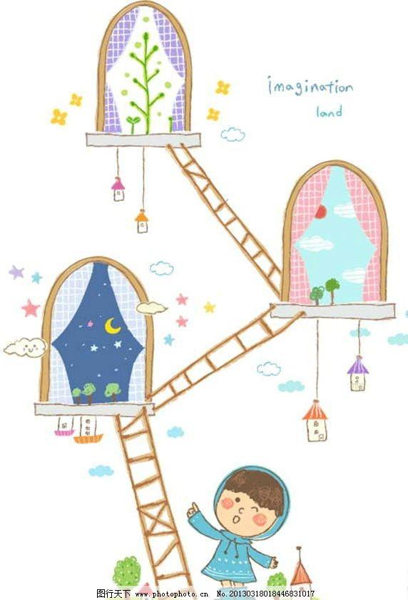 梯子窗户图片