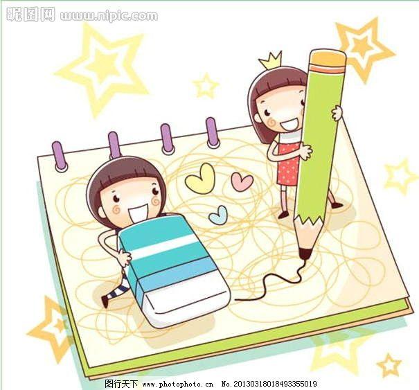 铅笔童话可爱人物