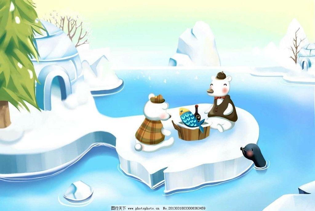 冬天松树儿童画