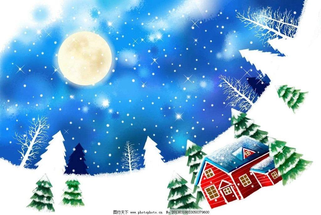 冬季小房子图片