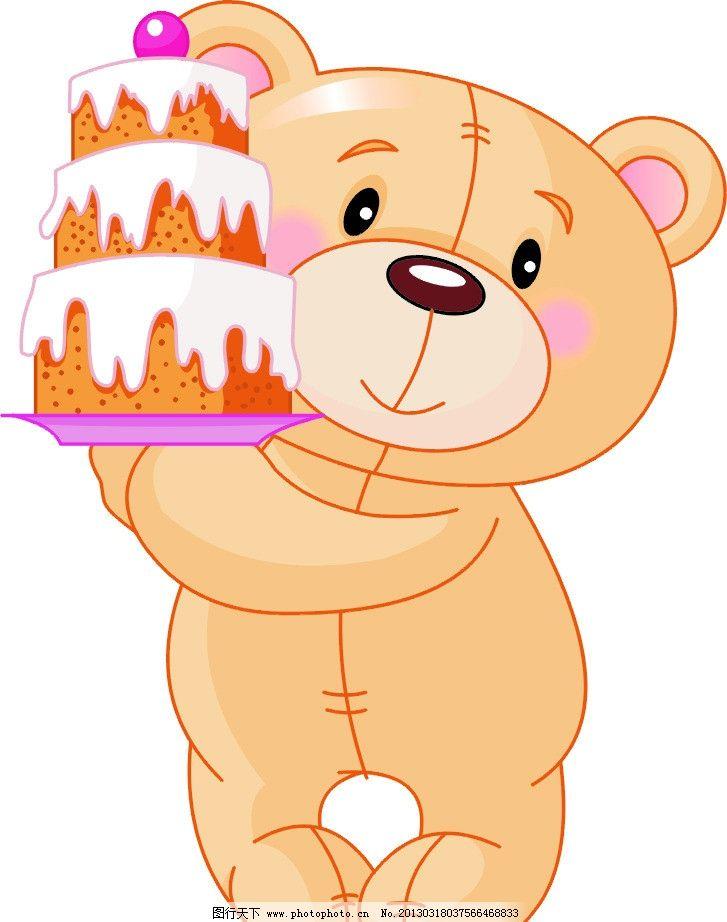 卡通熊 蛋糕图片