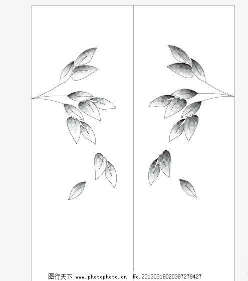 家具花 网点 树叶 花纹 矢量 黑白 花纹花边 底纹边框 ai