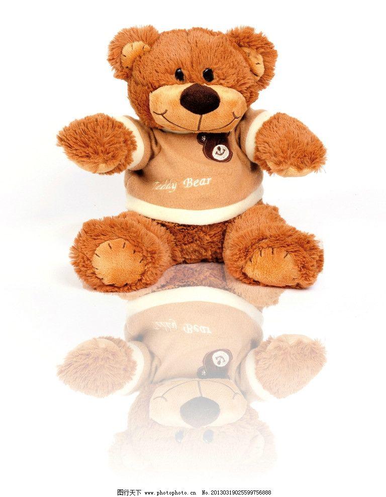 小熊 卡通 布娃娃 玩具 公仔 公仔娃娃 倒影 生活设计
