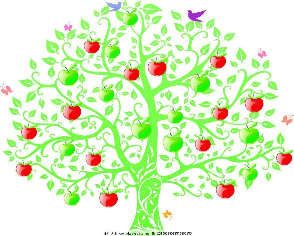 爱心树绿树苹果树图片