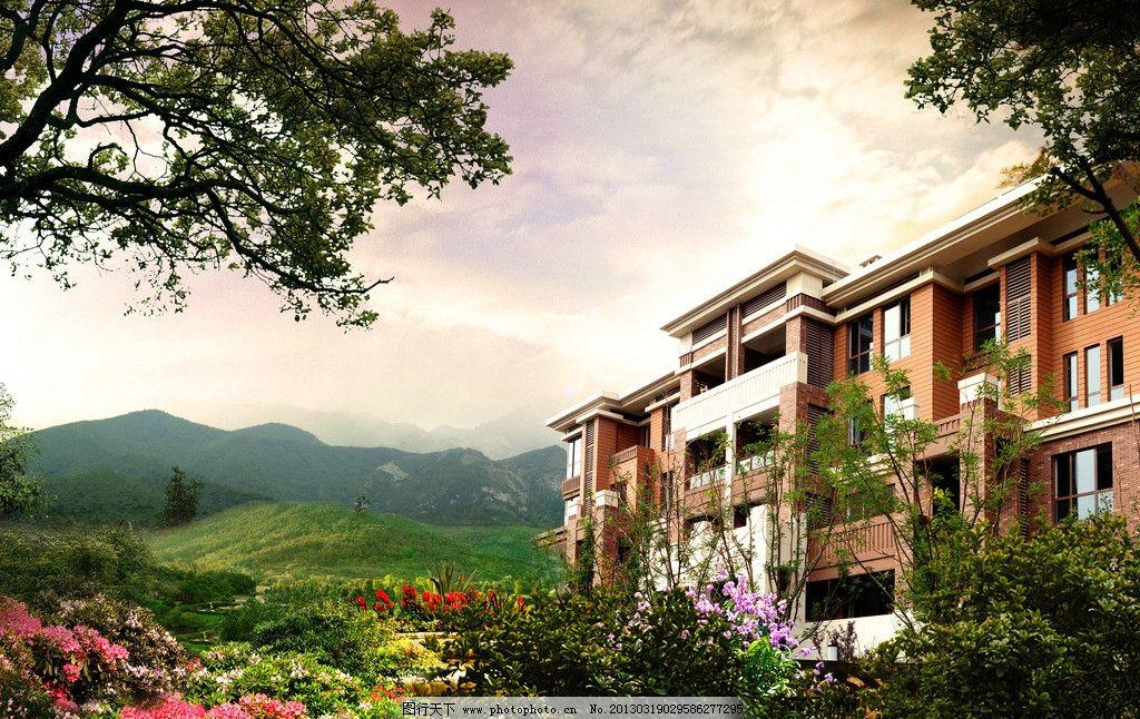 山景欧式别墅洋房图片